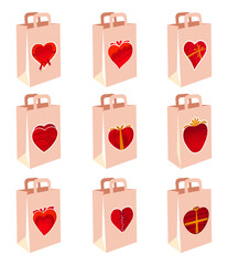 love decoration shopping bag