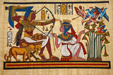 Fototapety Antique egyptian papyrus and hieroglyph