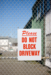 Please, Do Not BLock Driveway