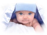 Little Boy Baby Under Blanket