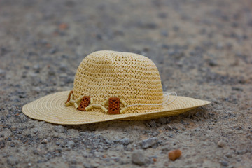 Hat on the road