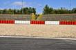 Leinwandbild Motiv Formel 1 - Rennstrecke, Sicherheitszone, Zuschauertribüne