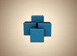 Abstract background blue boxes