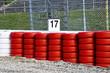 Formel 1 - Sicherheitszone mit Kiesbett und Reifenstapel
