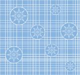 Openwork snowflakes poster
