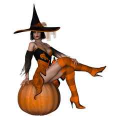 Witch With Pumpkin 3