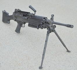 A USMC Squad Automatic Weapon (S.A.W.)