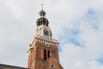 Historical tower in Holland