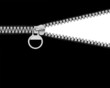 zipper black and white concept.