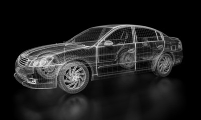 Wireframe Car