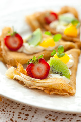 Crepes with fruits
