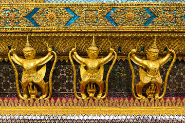 traditional thai style garuda statue
