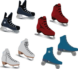 The complete set of the skates