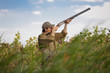 Hunter hunting the game, bird hunt