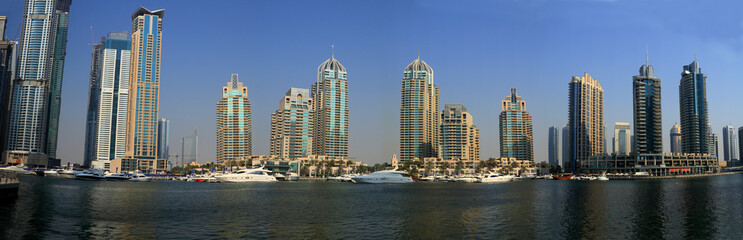 dubai marina panorama, united arab emirates