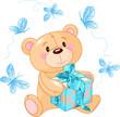 Teddy Bear with blue gift