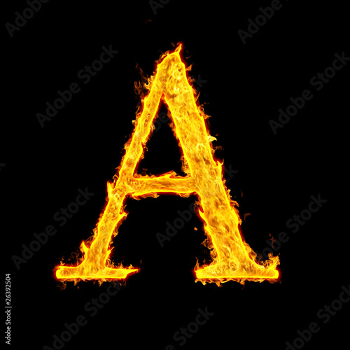 In de dag Vuur / Vlam fire letter