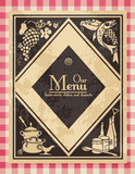 Fototapety vintage menu or cover for a cookbook - grunge removable