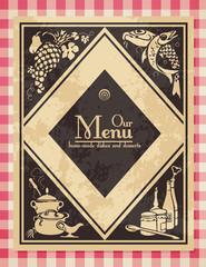 vintage menu or cover for a cookbook - grunge removable