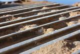 Hydraulic excavator mud track poster