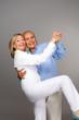 Cheerful seniors couple