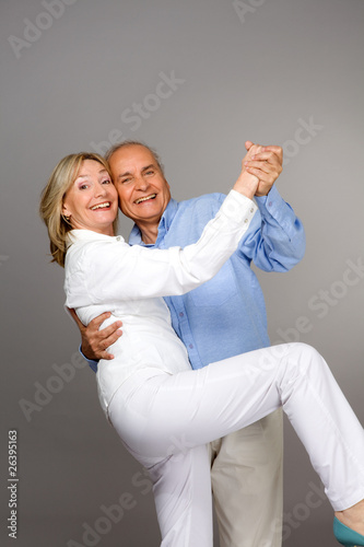 Cheerful seniors couple