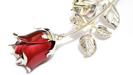 Rosa in argento
