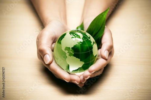 concept écologie planète terre verte - 26396737