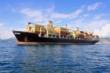 container ship in sea