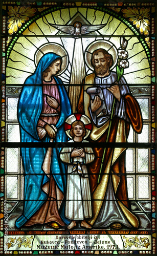 Naklejka Holy Family