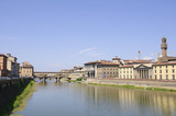 Arno River and Ponte Vecchio - Florence, Italy poster