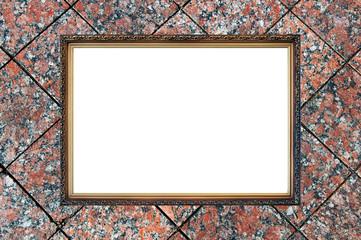 old russian style vintage elegant frame on granite background co