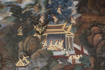 Ramayana, traditional Thai art