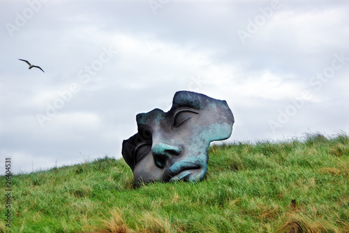"Sculpture ""Light of the Moon"" near the Beelden aan Zee Museum"