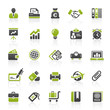 Green Black Website Icons -  Business & Office