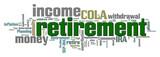 Retirement Word Cloud poster