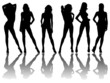 6 silhouettes of sexy women /1