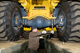 maintenance work of heavy loader