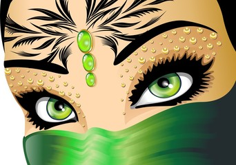 Occhi Verdi Esotici-Exotic Green Eyes-Vector