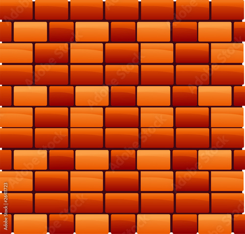 Vector brick wall