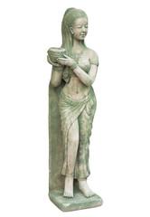 "Tradition Thai garden sculpture ""Girl with a bowl"""