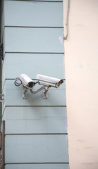 Surveillance Camera on a building wall