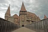 The castle of Vajdahunyad, Hunedoara, Transylvania, Romania poster