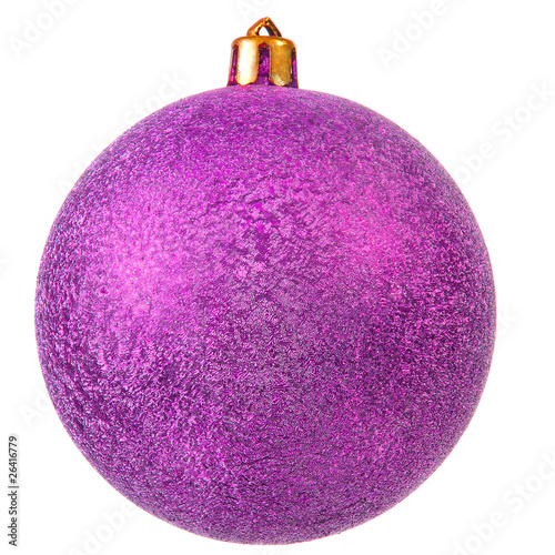violet christmas ornament .
