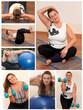 Collage Fitness und abnehmen