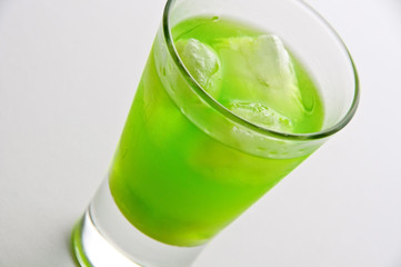Absinthe drink with ice