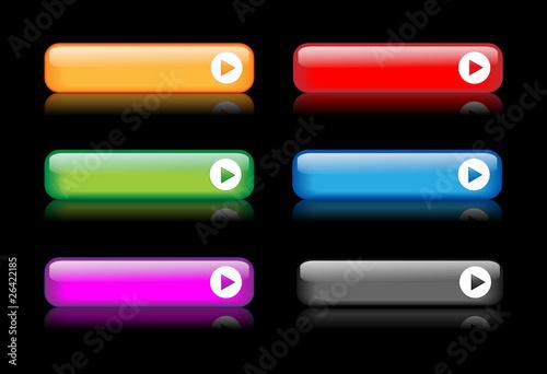 BLANK Web Buttons Poster (template set internet reflection ok)