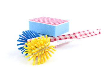 wash brush and scouring pads