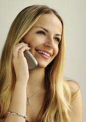 Girl talking on the mobile phone