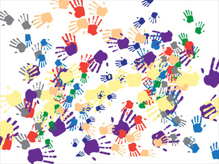 Handprint , Vector images scale to any size